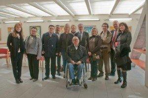 Foto de família de la visita de l'Alcalde Trias i la Consellera Munté.