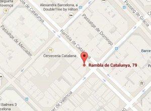 Mapa Parada RamblaCatalunya
